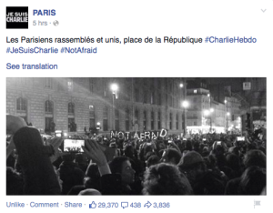 PARIS、facebookページより